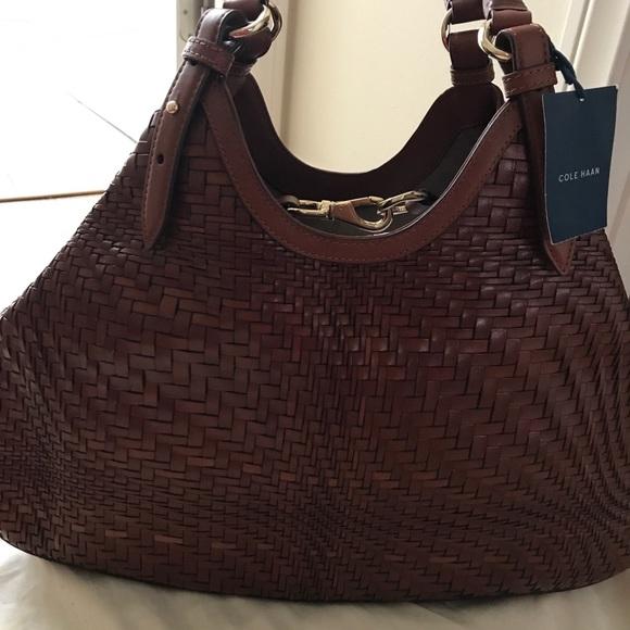 4830e3dfef99 Brand new! Cole Haan woven leather handbag
